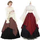 Women Medieval Renaissance Dresses Theater Cosplay Wench Costume Gown