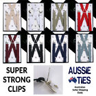 Men's / Boy's Braces - X Back, Regular or Extra Large Suspenders 2.5cm Mens Boys