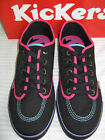 LADIES/GIRLS BLACK CANVAS LACE UP KICKERS SHOES SNEAKIE LACE T