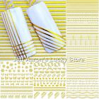 12 sheets 3d nail art decoration sticker liner stripe decals nails accessoires Z