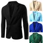 Mode Herren Sakko Slim Fit Mäntel Freizeit Business Anzug Blazer Jacken Cardigan