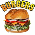 Burgers DECAL Choose Your Size Hamburgers Food Sign Restaurant Concession