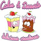 Cakes & Desserts DECAL (Choose Your Size) Food Sign Restaurant Vinyl