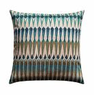 Aztec Throw Pillow, Acela Prairie Throw Pillow in Shades of Blue Brown and Beige