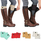Women Winter Crochet Boot Cuffs Knitted Toppers Boot Socks Leg Warmers Thermal