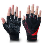 Kuangmi Weight Lifting Fitness Gloves Gym Exercise Training Long Wrist Strap