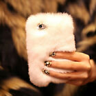 Luxury Soft Rabbit Real Fur Hair Case Cover for iPhone 5s SE 6 6S 7 Plus Samsung