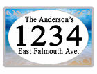 Personalized ADDRESS Sign YOUR NAME Weather Proof Aluminum SIGN FULL COLOR Beach