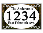 Personalized ADDRESS Sign YOUR NAME Weather Proof Aluminum SIGN FULL COLOR Fores