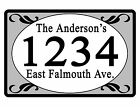 Personalized ADDRESS Sign YOUR NAME Weather Proof Aluminum SIGN FULL COLOR Grey