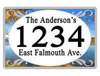 Personalized ADDRESS Sign YOUR NAME Weather Proof Aluminum SIGN FULL COLOR Lake
