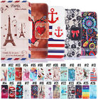 Flip Pattern PU Leather Back Wallet Card Various Cover Case For Samsung Galaxy