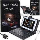 Cool Bear Leather Case Cover Micro USB Keyboard For 7'' 7.9* 8'' Android Tablets
