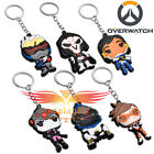 Overwatch Reaper Tracer Silicone Keychain Pendant Cosplay Collectibles 6 Version