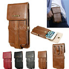 Genuine Leather Outdoor Belt Handbag Pouch Wallet Magnetic Case Cover For Phones