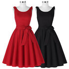 Retro Vintage Sleeveless Flared Cocktail Evening Party Housewife Dress Size S-XL