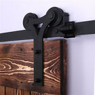 CCJH 8ft Country Rustic Sliding Wood Barn Double Door Closet Hardware Pantry