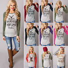 Women Long Sleeve T-shirt Jumper Christmas Xmas Crew Neck Blouse Casual Tops Tee