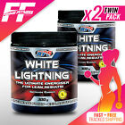 2 x APS White Lightning Extreme 300g Twin Pack Pre-Workout Fat Burner VALUE PACK
