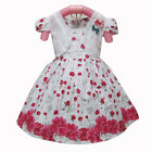 baby girls party dress 6-12 months SMALL FLORA pattern cotton summer dress
