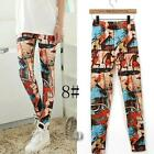 AU SELLER Sexy Punk Rockabilly Artsy Print Dance Leggings Skinny Pant p122-8
