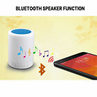 Bluetooth Stereo Speaker Colorful Touch LED Light Lamp TF Music Camping Player
