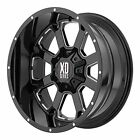 XD Series by KMC Wheels XD825 Buck 25 Gloss Black Wheel with Milled Accents (20x
