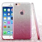 Pink Gradient Glitter Hybrid Phone Protector Cover Case for iPhone 6/6s