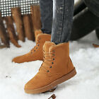 Winter Men's Warm Faux Suede Fur Snow Ankle Boots Lace up Casual Flats Shoes