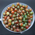 New 4mm 100Pcs Double Colors Glass Round Pearl Loose Beads Jewelry Making #4m64