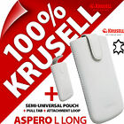 New Krusell Aspero L Long GENUINE LEATHER Mobile Pull-Up Pouch Case Cover Sleeve günstig