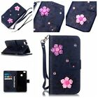 Fashion pattern Magnetic Flip Card Wallet Leather Case Cover For Huawei LG