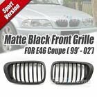 Matt Black Front Mesh Nose Grille for BMW E46 2DR COUPE 1999-2002 Genuine OE fit