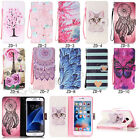Fashion Magnetic Flip Pattern Lot Card Pocket Stand PU Leather Cover TPU Case ZD