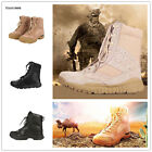 Mens Steel Toe Cap Leather Safety Boots Work Casual High top US Size 6 to 9.5