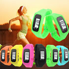 Digital LCD Pedometer Wrist Bracelet Step Run Walking Distance Calorie Counter
