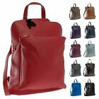 Big Handbag Shop Womens Genuine Leather Medium Convertible Backpack Shoulder Bag