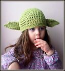 Crochet green star wars baby yoda hat  photo props costume 3-6 MONTHS TO ADULT /