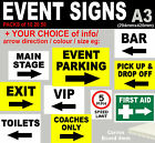 A3 EVENT SIGNS Correx 4mm MultiPack Weatherproof Custom FESTIVAL Health & Safety