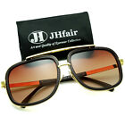 Mach Oversized Square Aviator Large Metal Bar Designer Fashion Mens Sunglasses