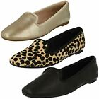 Ladies Clarks Chia Milly Leather Casual Slip On Pumps D Fitting