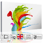 LARGE MULTI COLOURED ABSTRACT MODERN - STRETCHED CANVAS WALL ART PRINTS PICTURES