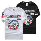 New Mens Bape BY A Bathing Ape Shark Head Casual T-shirt Tshirts Aape Tee Tops