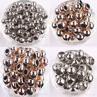 20/50Pcs 14K Rose Gold Plated Big Hole Round Spacer Beads Bracelet 10/12/14MM