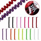 Curly Elastic Shoelaces No Tie Disability Mobility Aid Kids Shoe Laces Colours