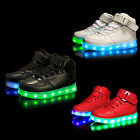Kids USB Charging LED Light Up Luminous shoes Boys Girls Fashion Causal Sneakers