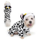 Внешний вид - Small Pet Dog Cow Pajamas Coat Cat Puppy Pet Clothes Apparel Clothing Size S-XL