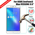 9H Tempered Glass Film Screen Protector Cover For ASUS ZenFone3 Max ZC553KL 5.5""