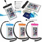 Luminous Waterproof Underwater Phone Pouch Bag Pack Case Cover For CellPhone OUW