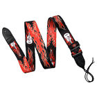 Adjustable Patterned Guitar Strap Leather End For Electric Acoustic Guitar Bass